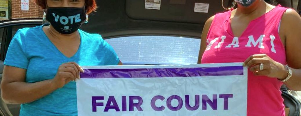 20.09.12 Fair Count sign with Vote mask - c7f