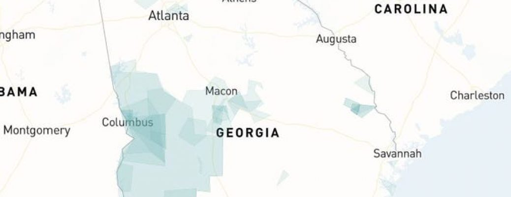 Georgia on Representable, showing some communities of interest across the state. Credit - Representable